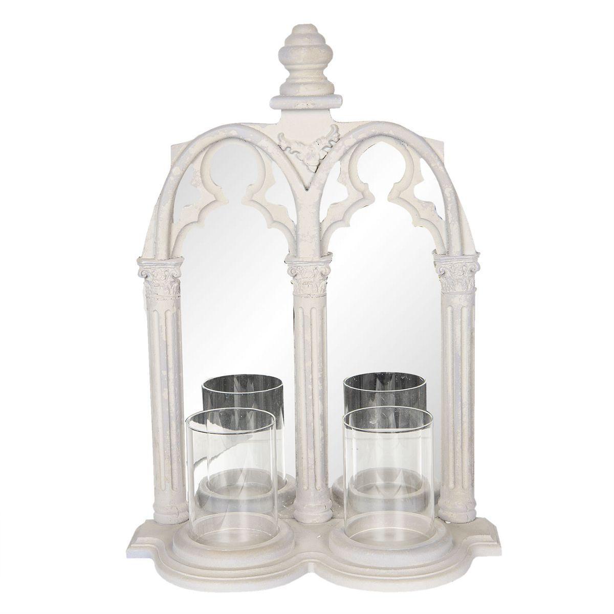 Nástěnné zrcadlo se svícny