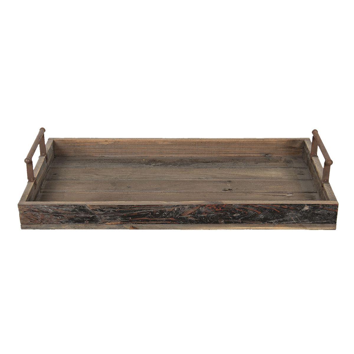 Dřevěný podnos 70*37*13 cm