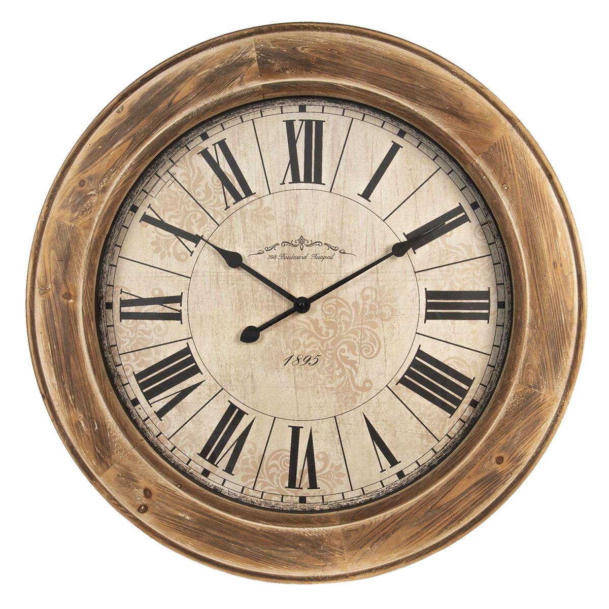 Nástěnné hodiny BOULEVARD průměr 78 cm