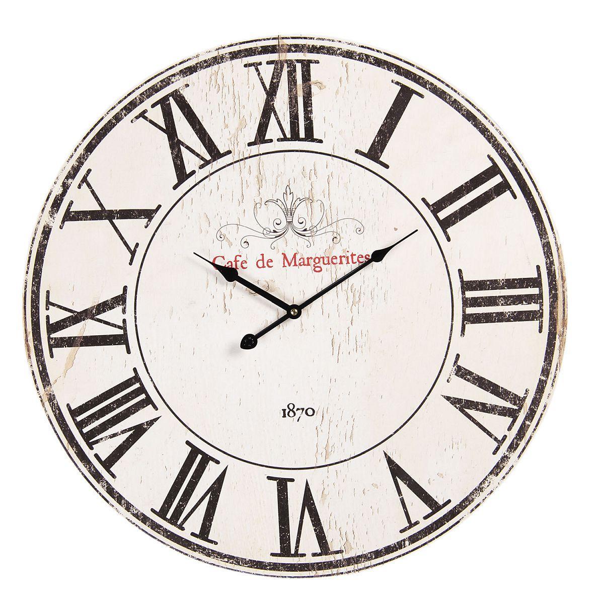 1- Nástěnné hodiny CAFE DE MARGUERITES