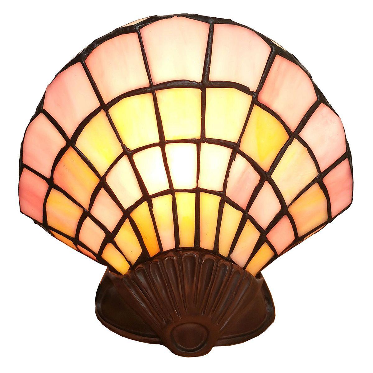 Nástěnná lampa Tiffany SHELL