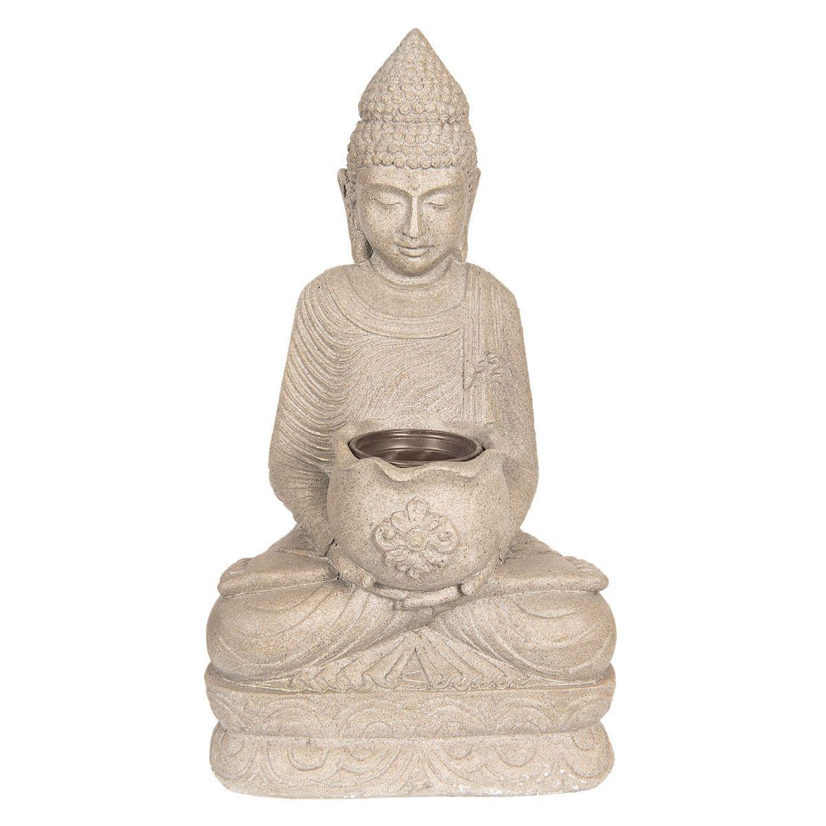 Dekorační socha  BUDDHA s miskou