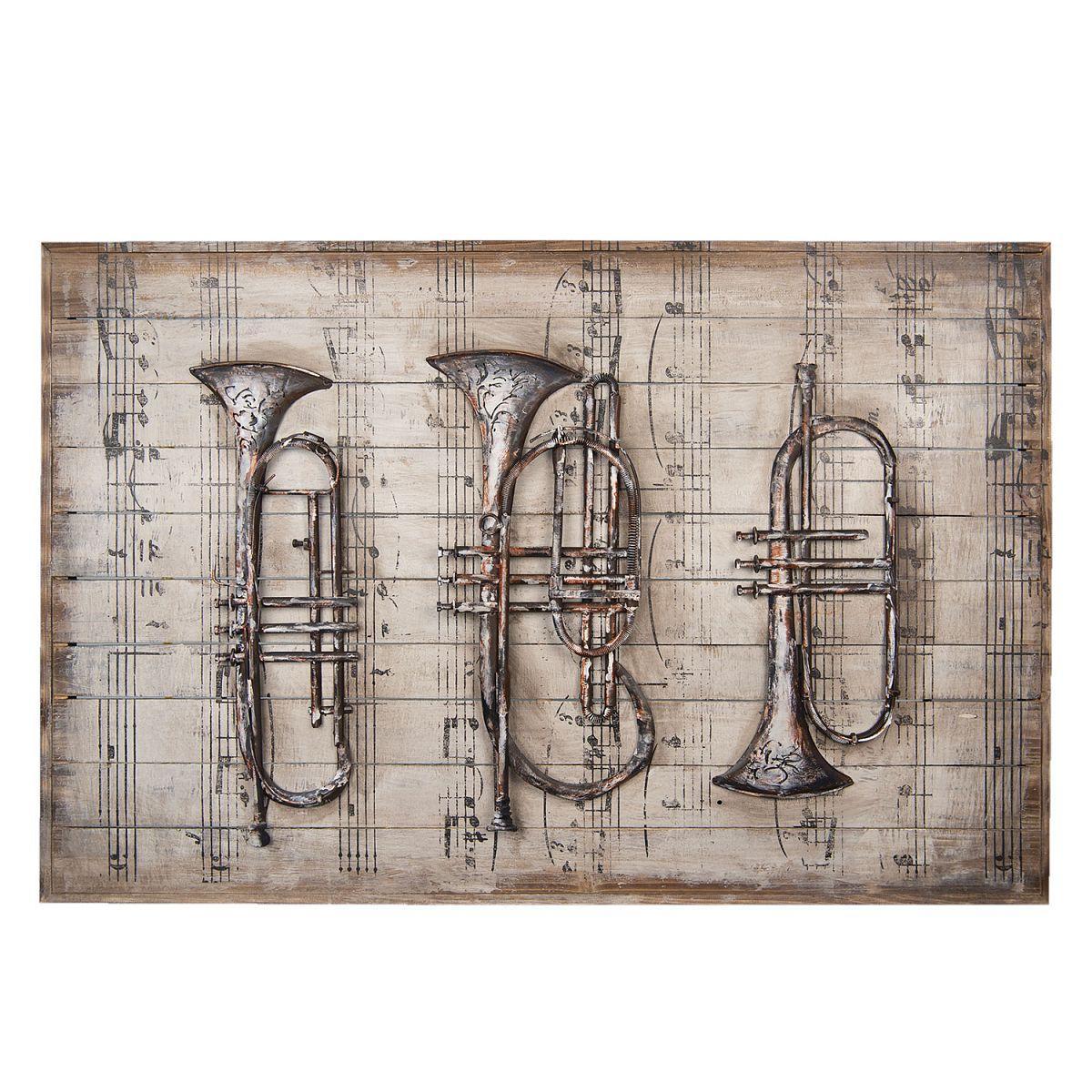 Kovový obraz MUSICAL INSTRUMENTS