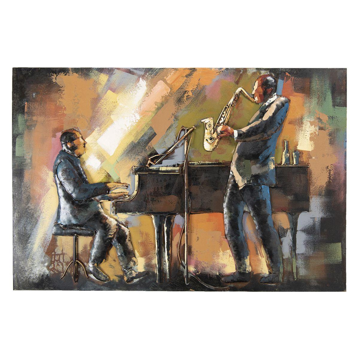 Kovový obraz MUSICIANS