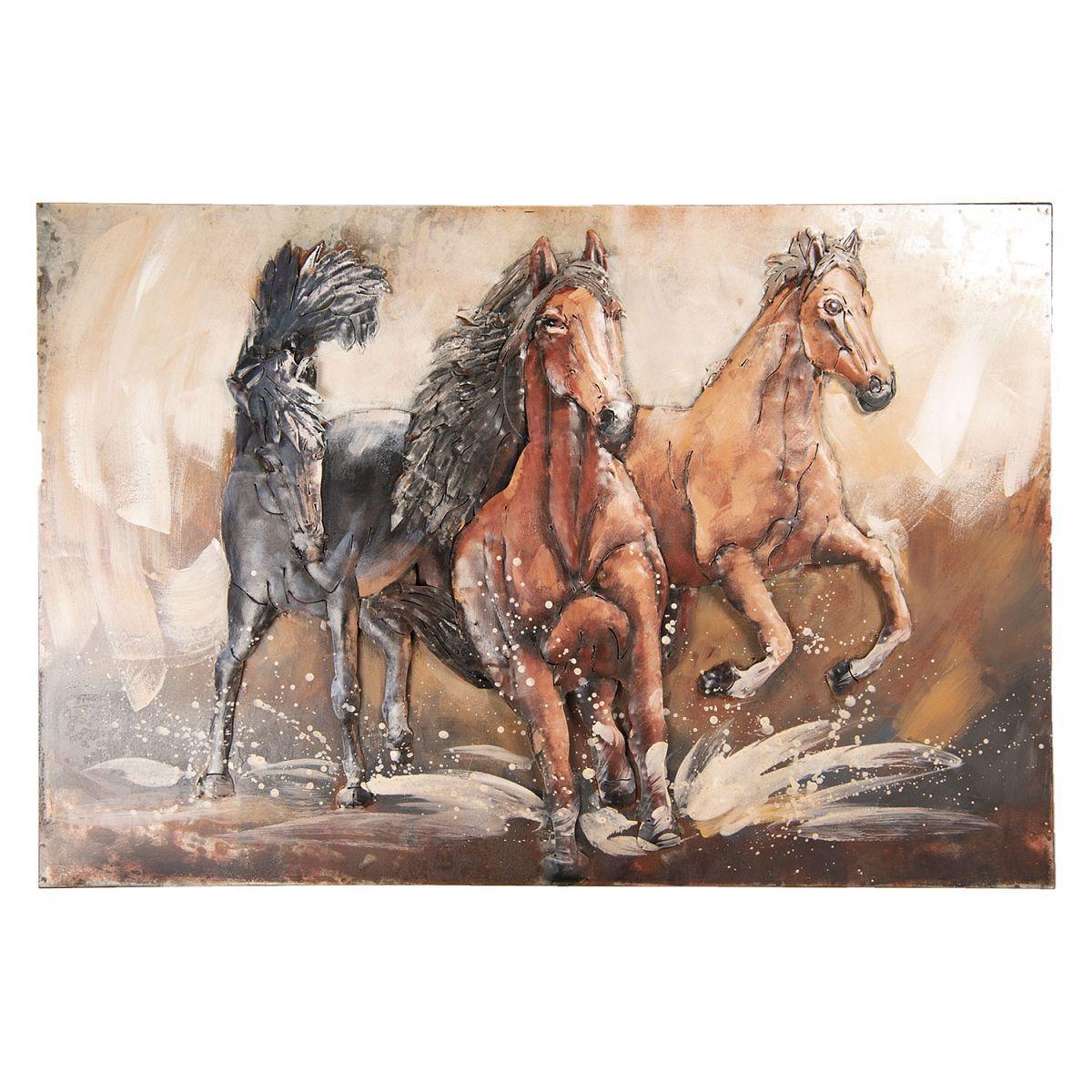 Kovový obraz HORSES