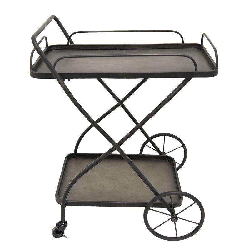 Servírovací kovový vozík