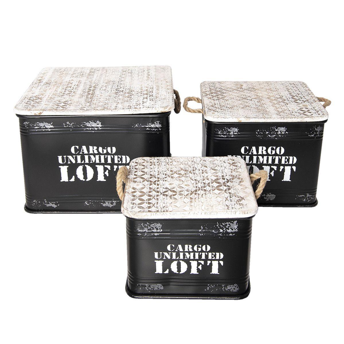 Tři úložné boxy / odkládací stolky