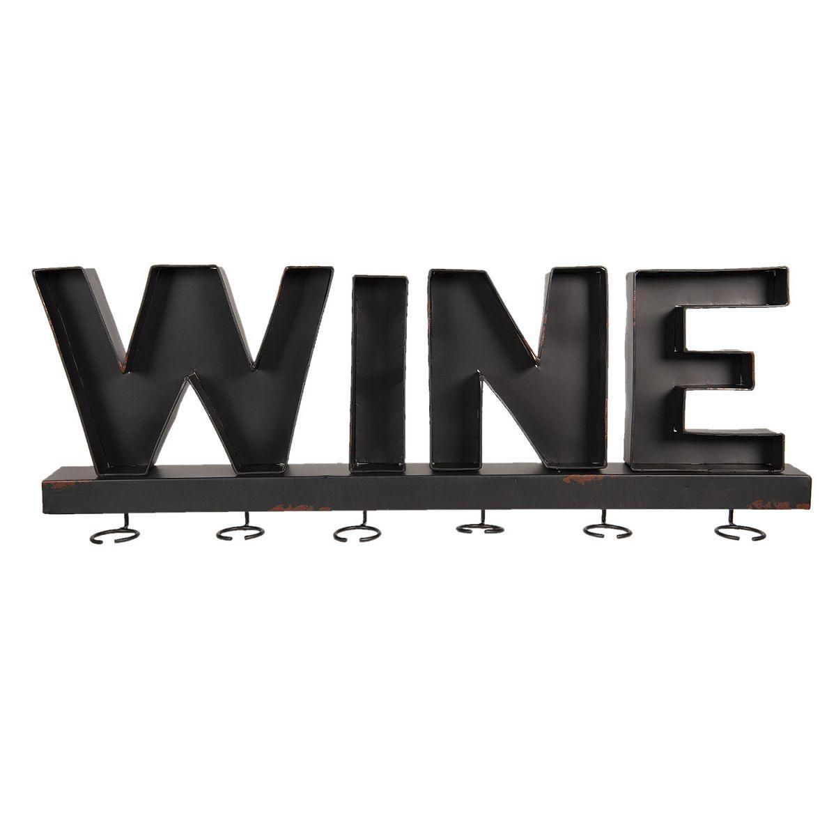 Nástěnný držák na skleničky na víno