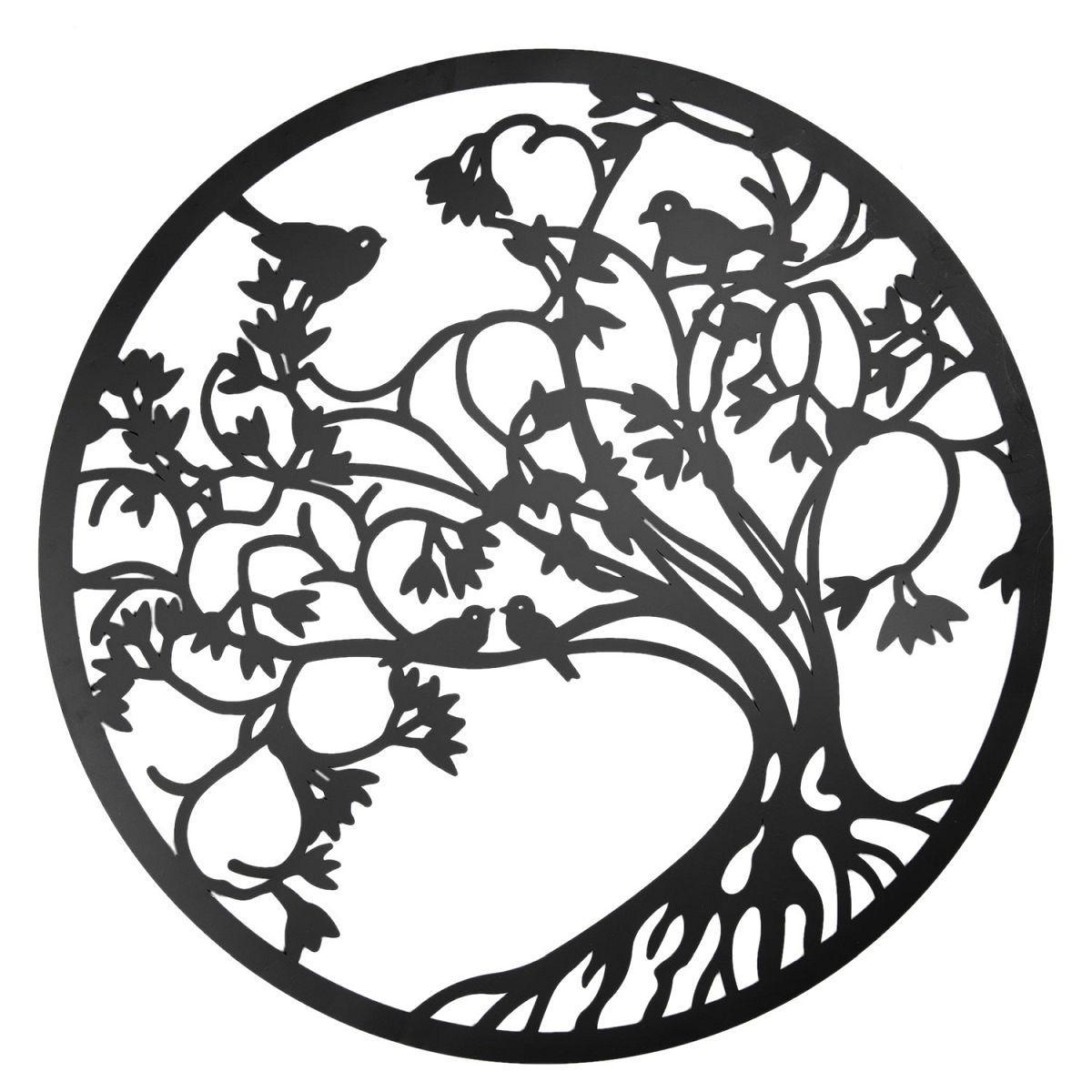 Nástěnná dekorace TREE WITH BIRDS