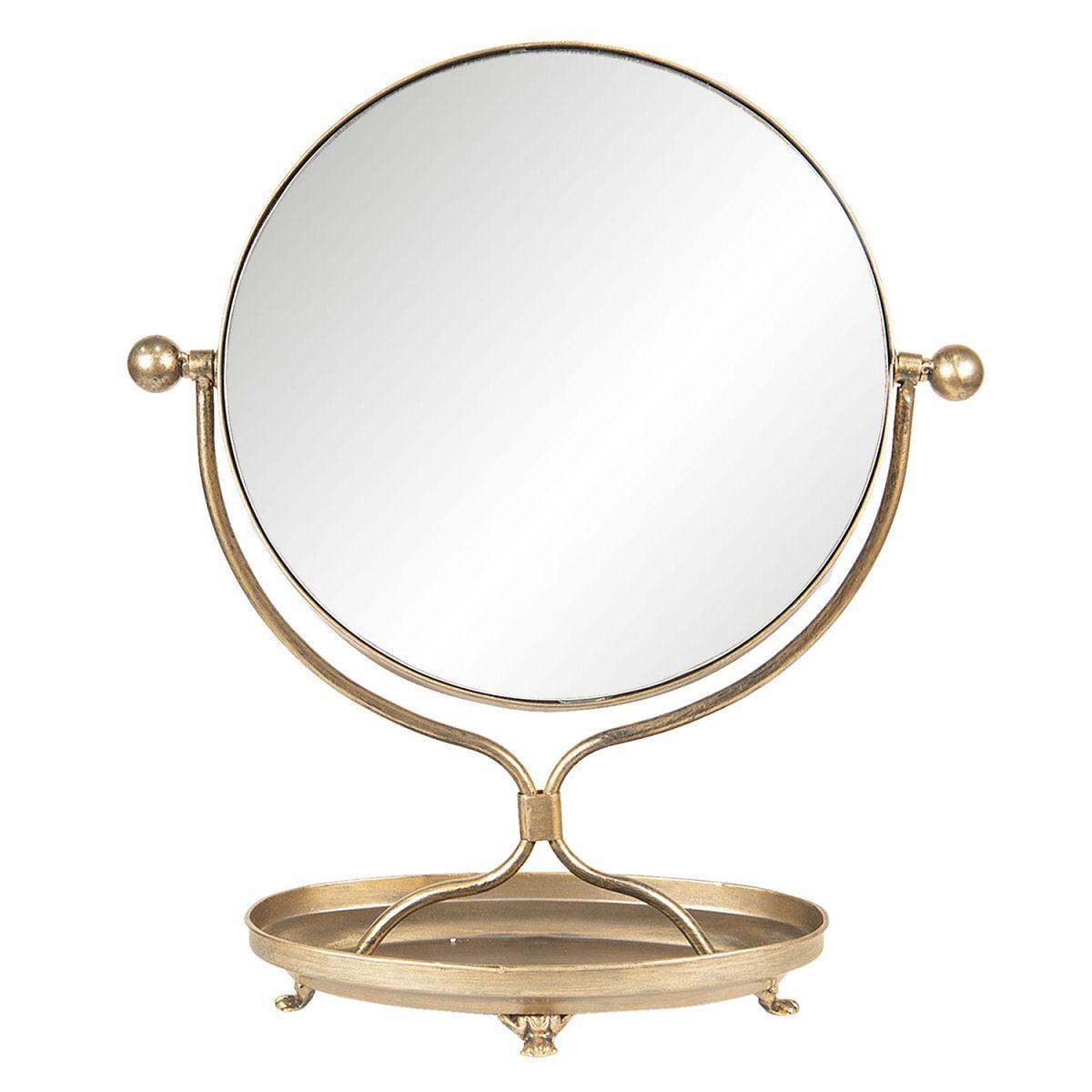 1- Stolní zrcadlo velké bronzové