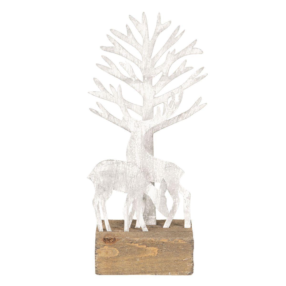 Jelen s laní u stromu