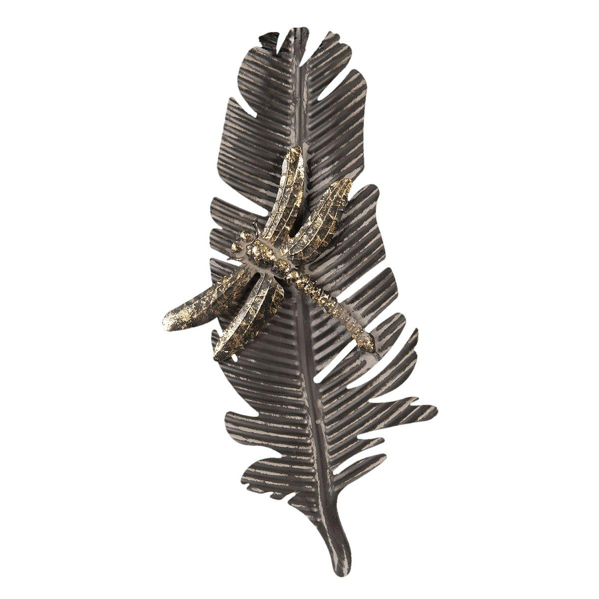 Nástěnná dekorace Vážka na listu