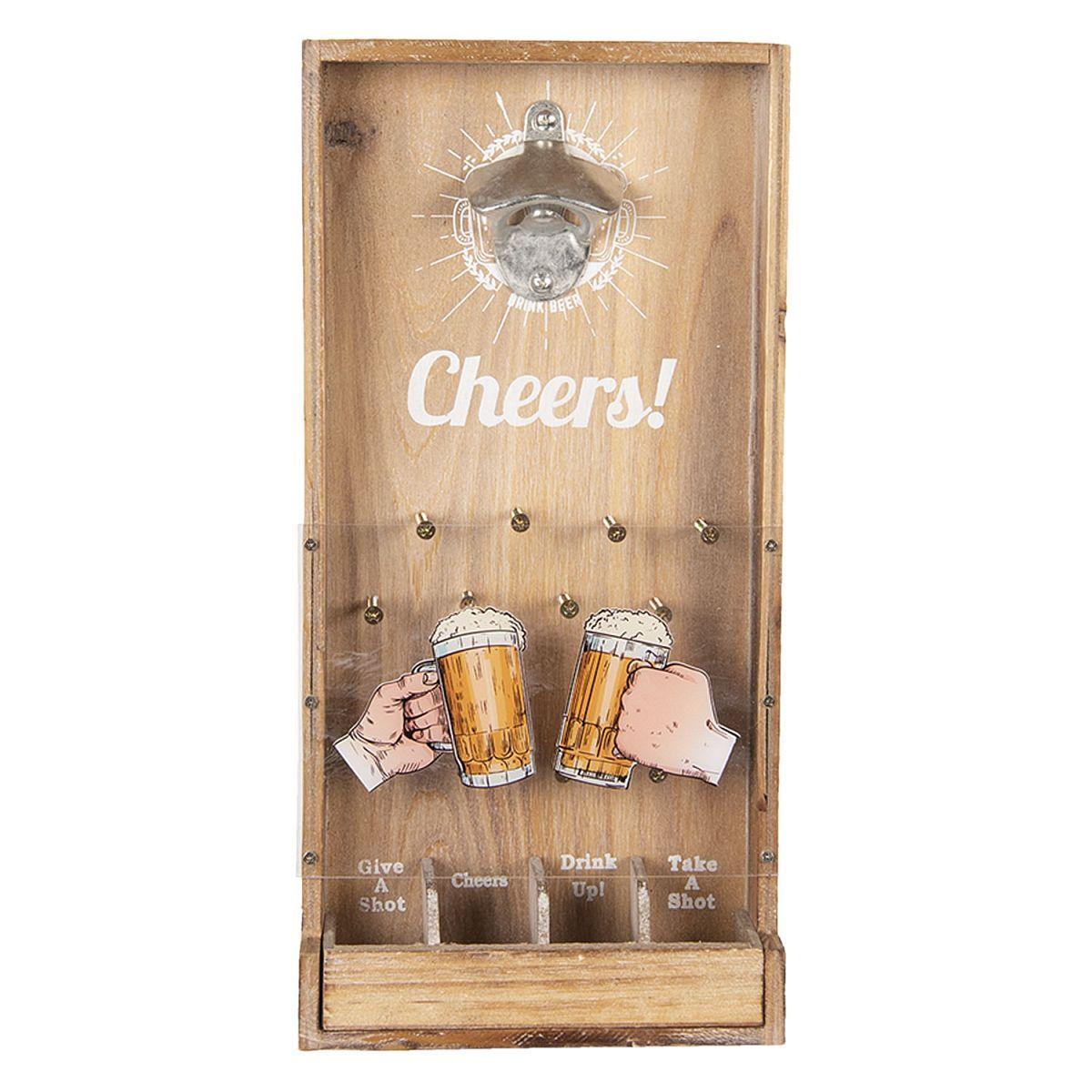 Nástěnný otvírák lahví BEER