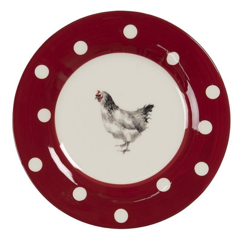 Keramický dezertní talíř CHICKEN