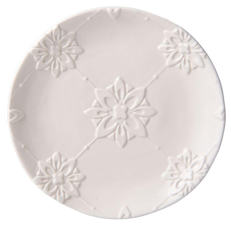 Keramický dezertní talíř FLOWER ORNAMENT
