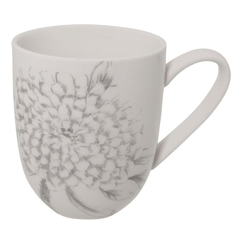 1- Keramický hrnek GREY FLOWERS