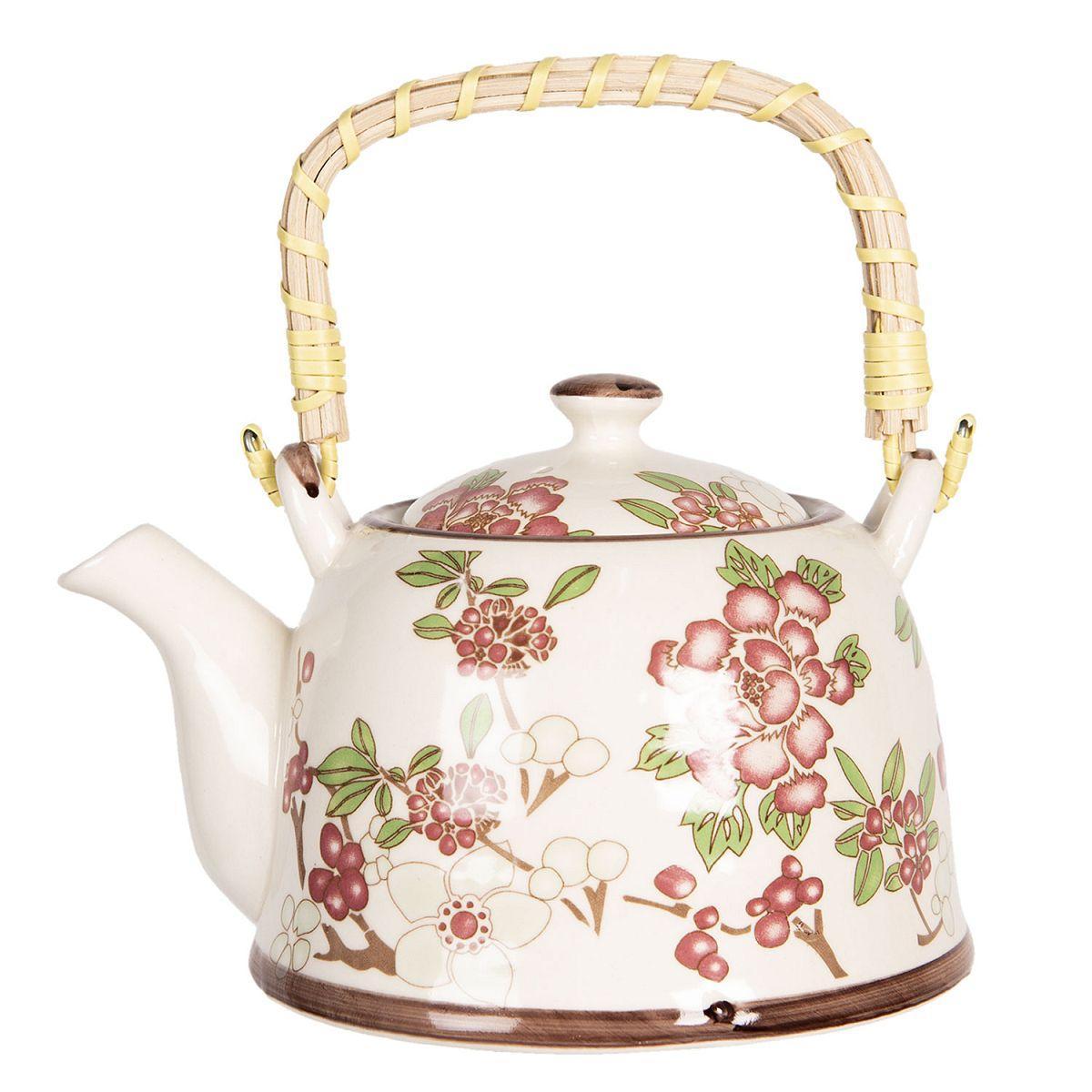 1- Keramická konvička na čaj sakura