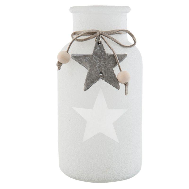 1- Dekorativní lahvička s hvězdou