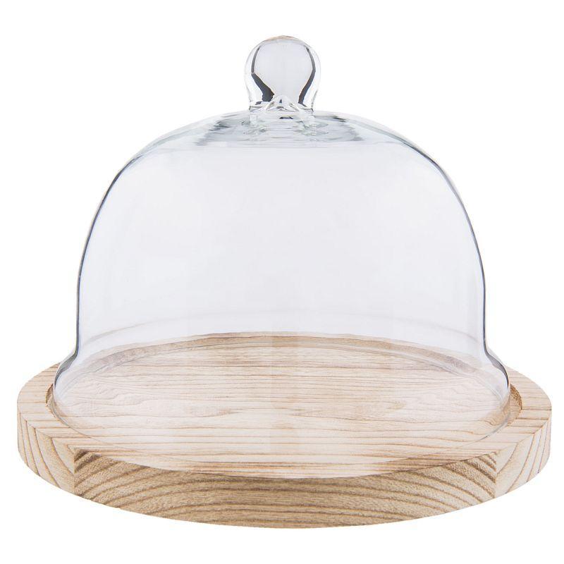 1-Poklop ze skla s dřevěným podstavcem