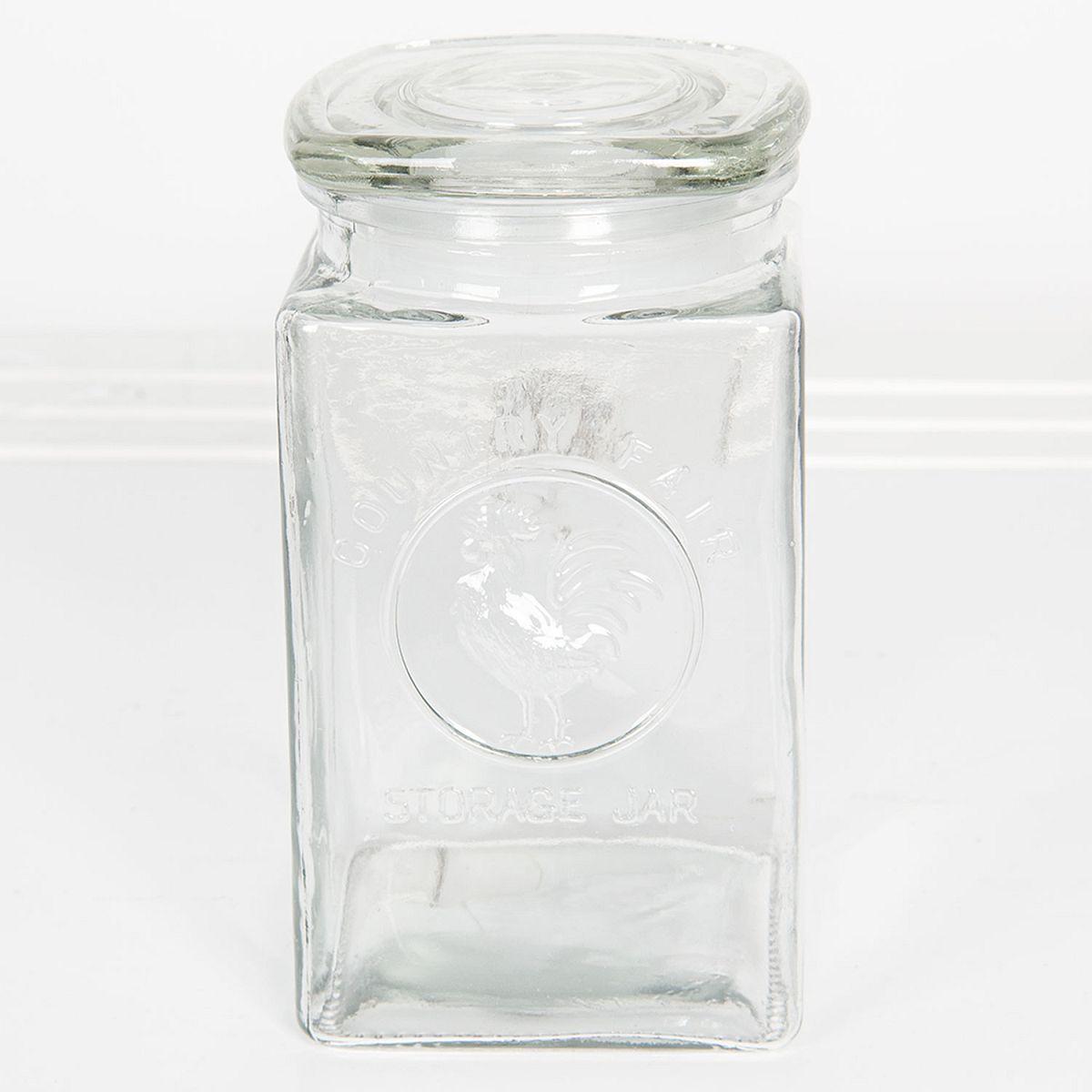 1-Skleněná dóza hranatá 1,25 l
