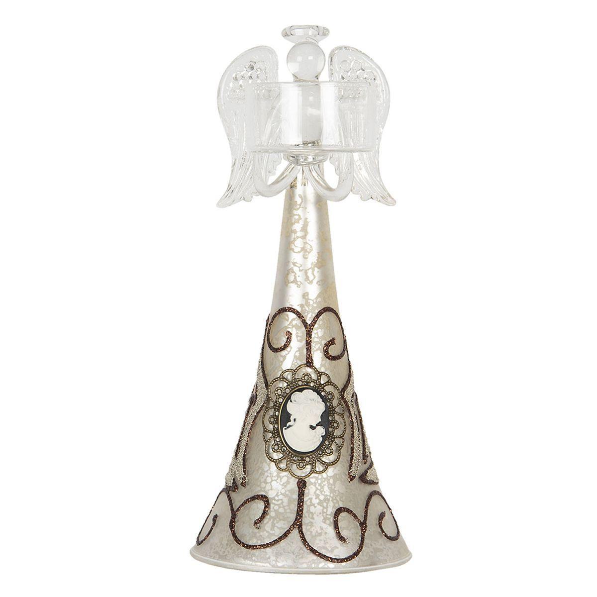 1- Anděl svícen na čajovou svíčku