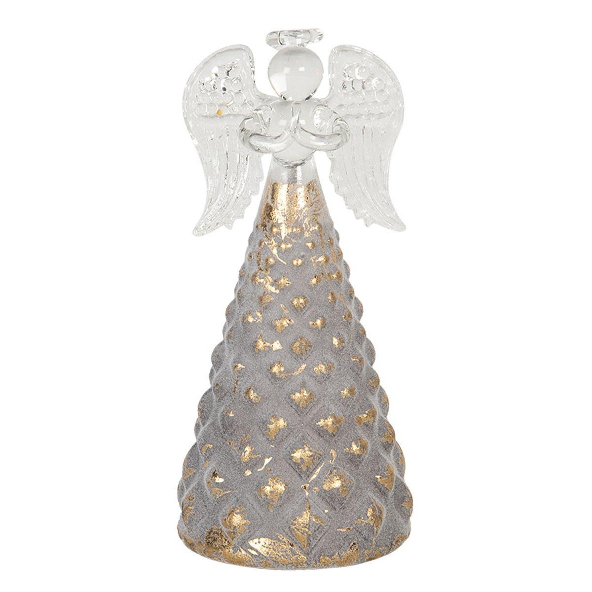 Skleněný svícen na čajovou svíčku ANGEL