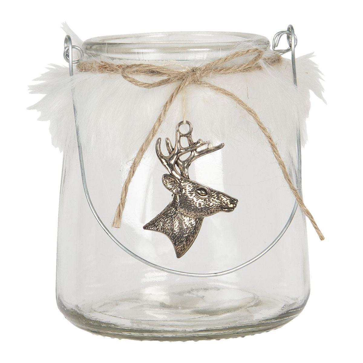 Lucerna na čajovou svíčku DEER
