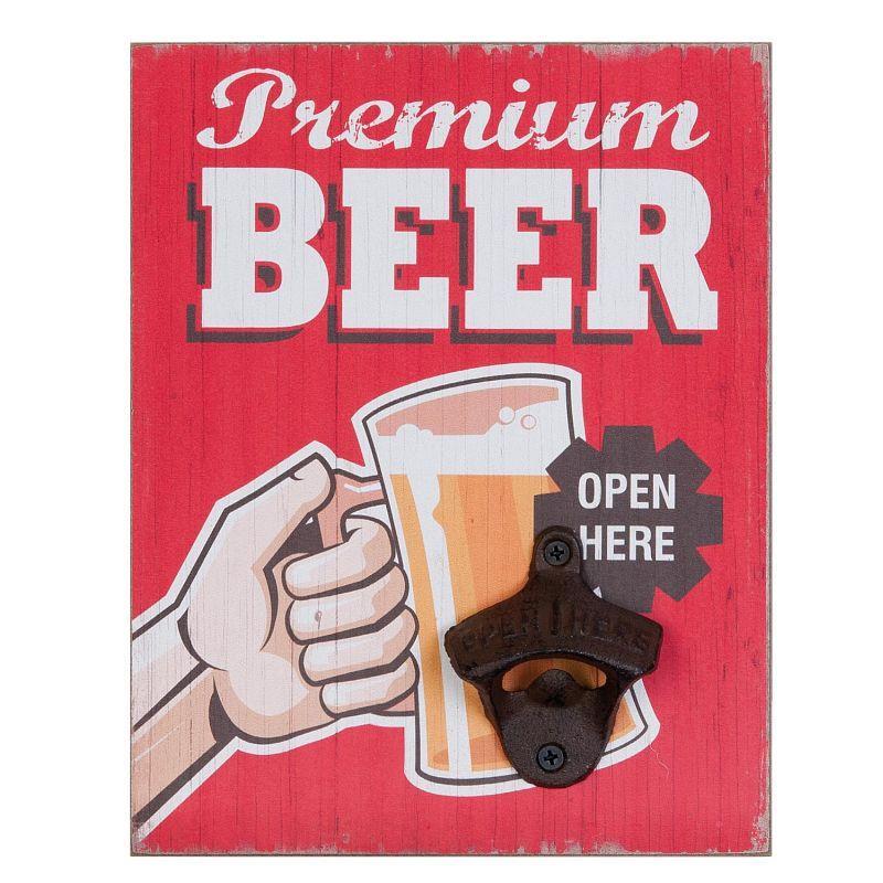 Nástěnný otvírák lahví PREMIUM BEER