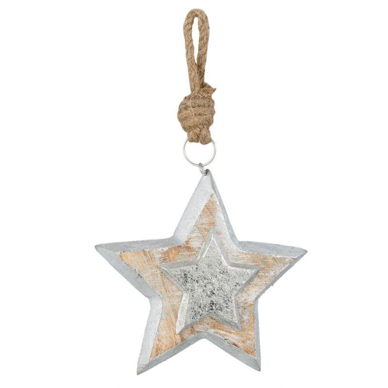 1-Dřevěná hvězda vánoční