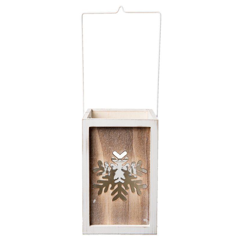1-Lucerna dřevěná bílá