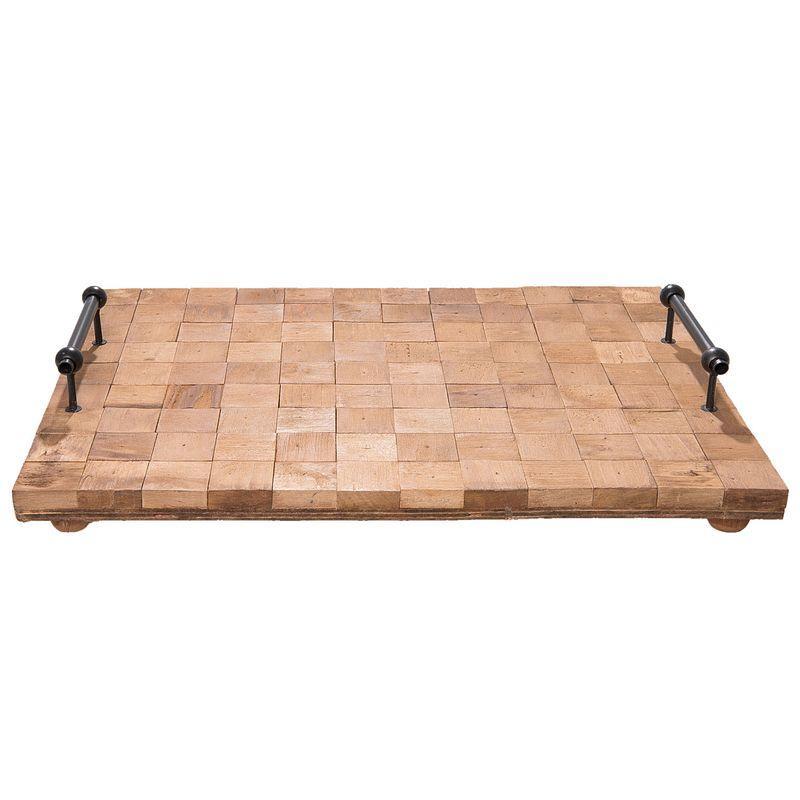 Servírovací dřevěný podnos 49*36*8 cm