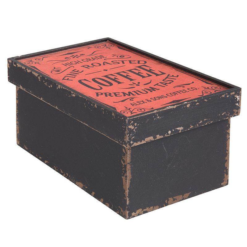 Dřevěná krabička COFFEE