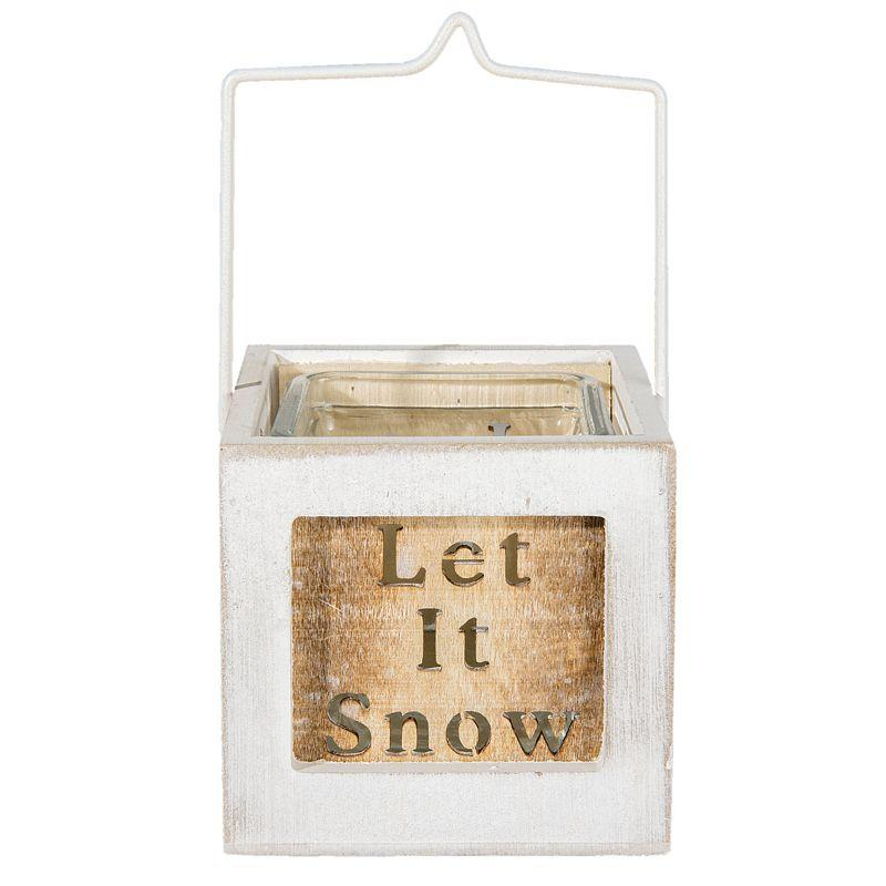 Lucerna na čajovou svíčku LET IT SNOW