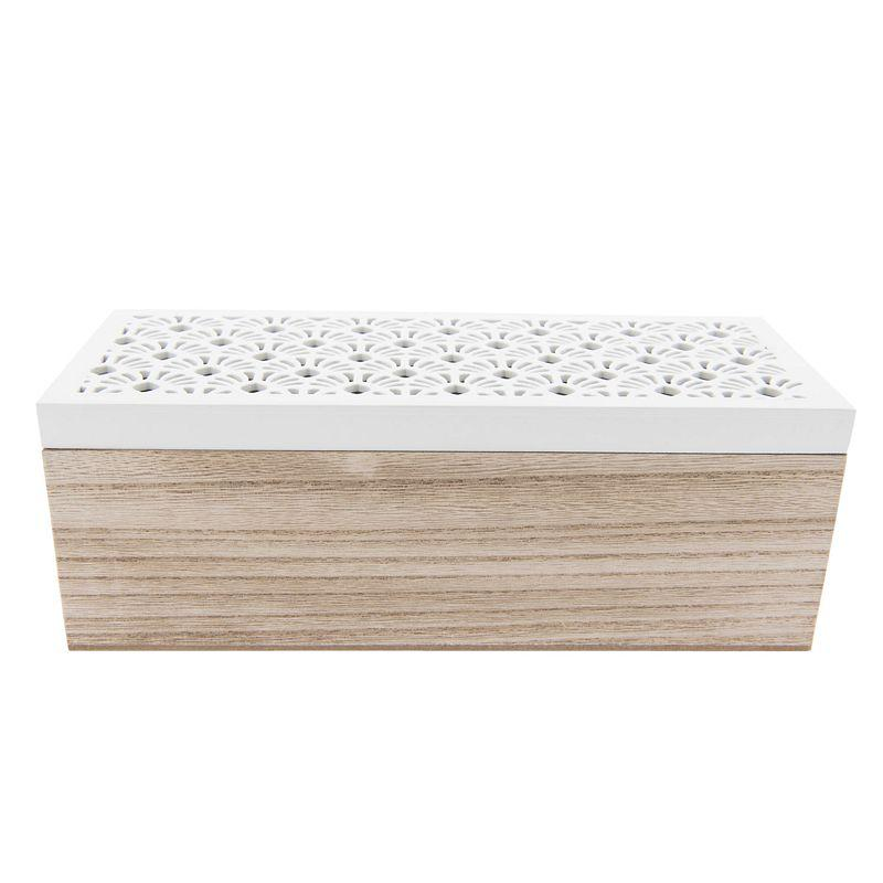 Krabička na čajové sáčky (tři oddíly)