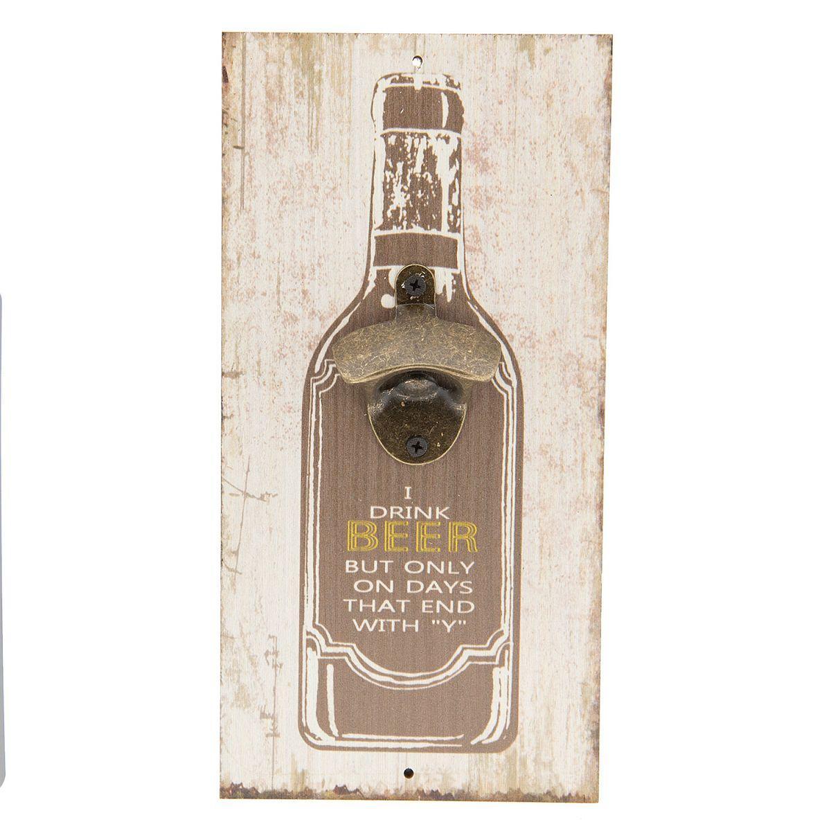 Nástěnný otvírák lahví I DRINK BEER