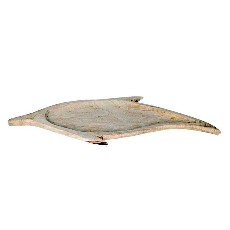 Dřevěný tác ve tvaru ryby 65*36*3 cm