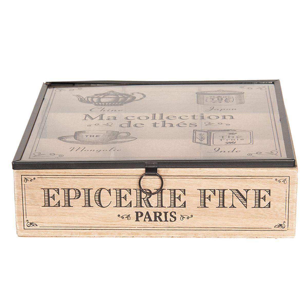 Krabička na čajové sáčky EPICERIE FINE