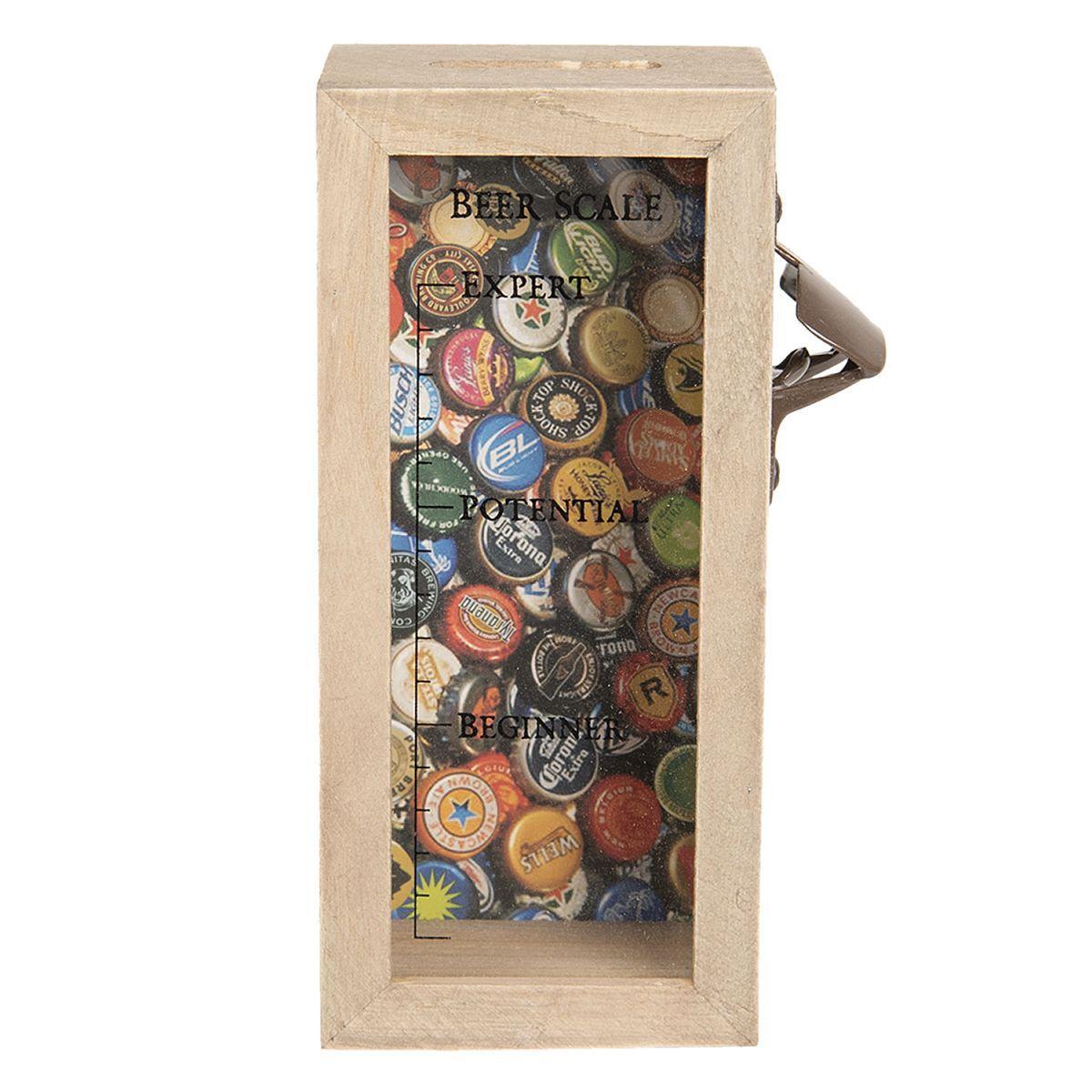 1- Box na pivní  uzávěry s otvírákem