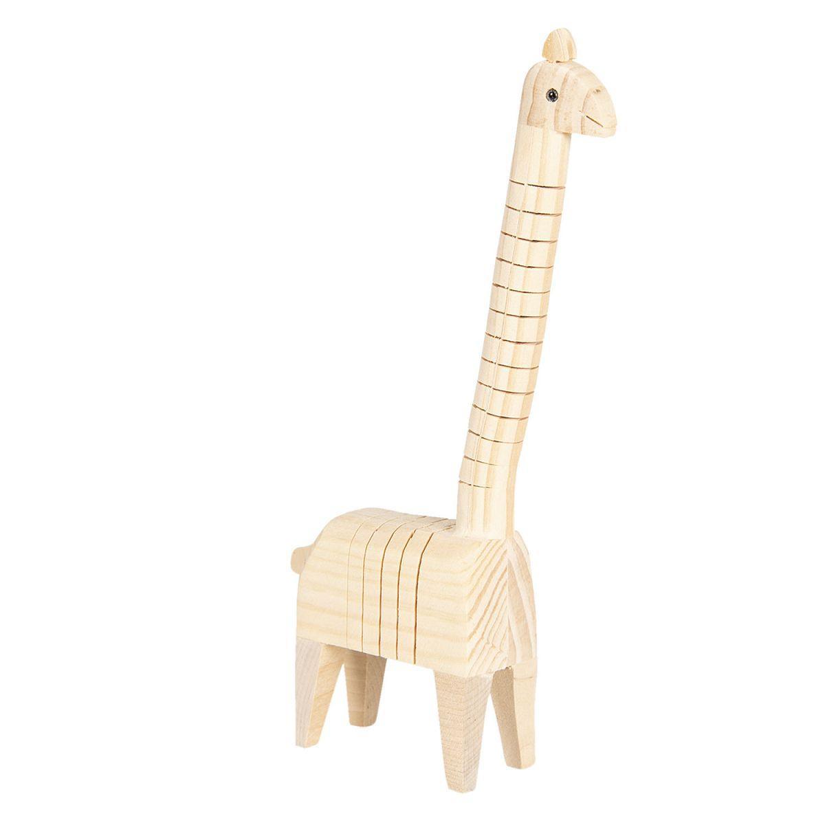 1- Žirafa ze dřeva