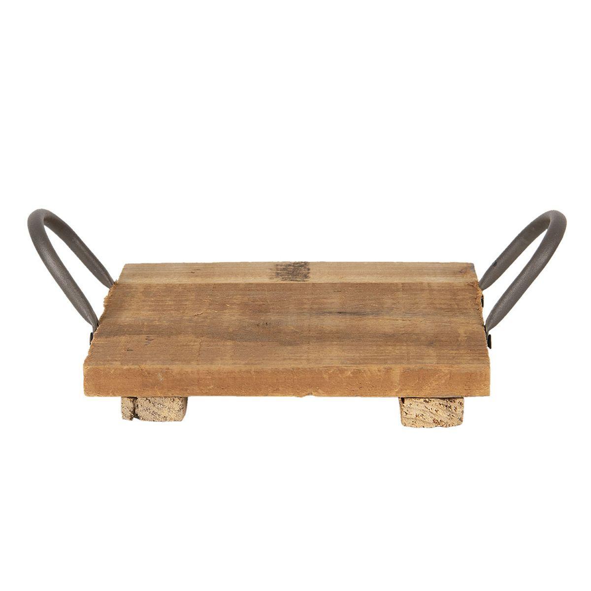 Dřevěný podnos 20*20*9 cm