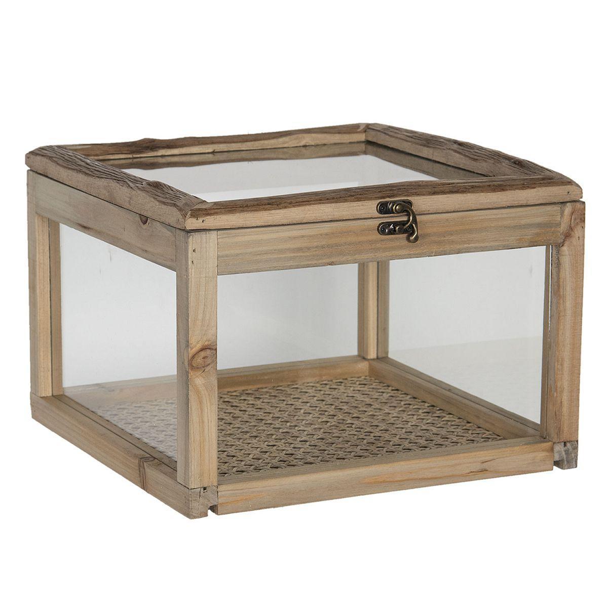 Dřevěný box se sklem