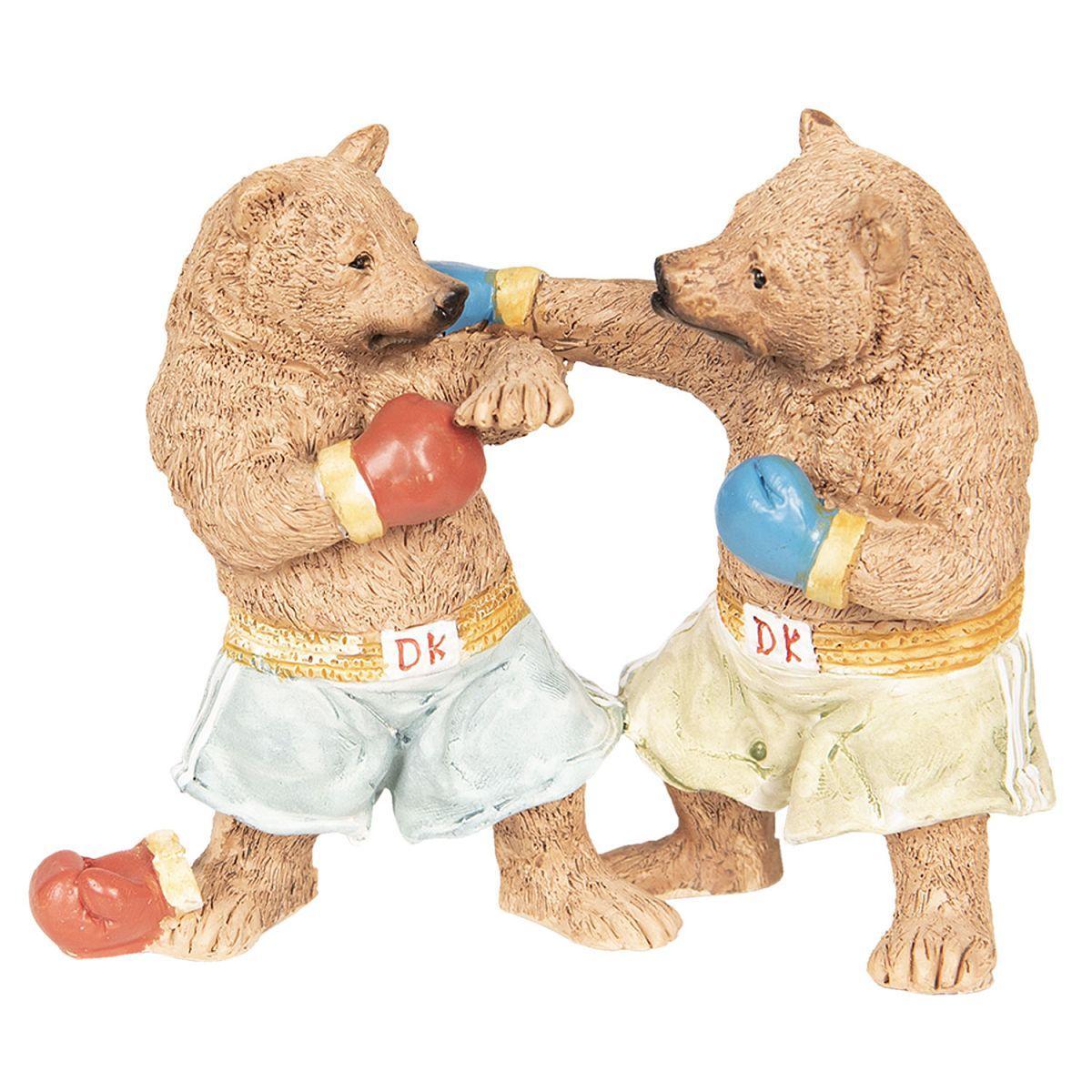 Dekorace - boxující medvědi