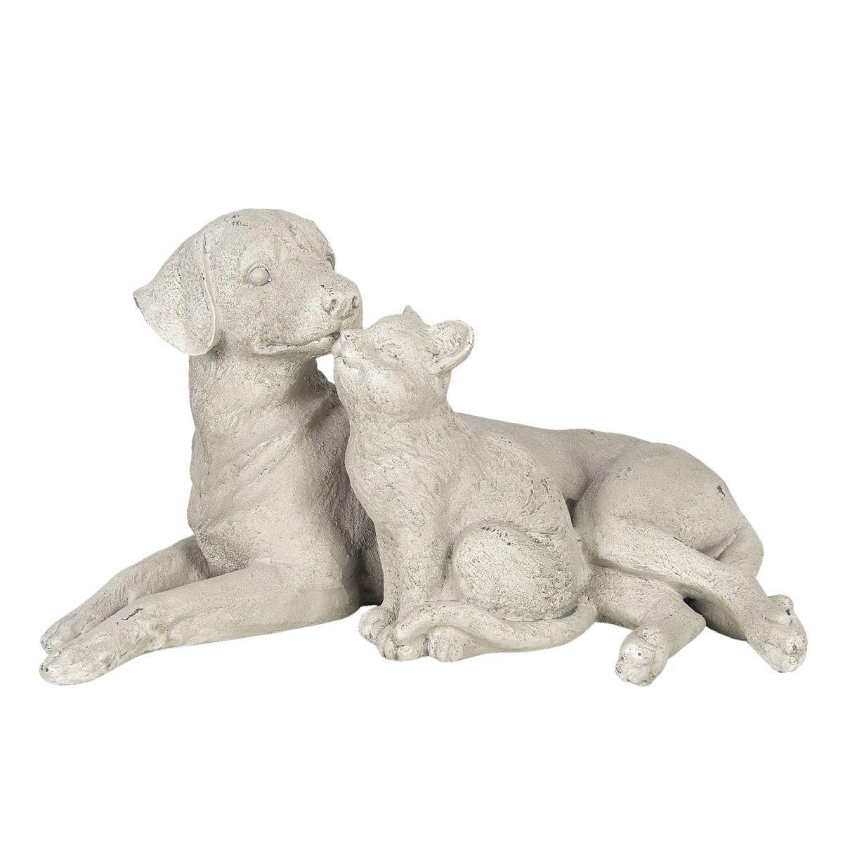 Dekorativní pes s kočkou