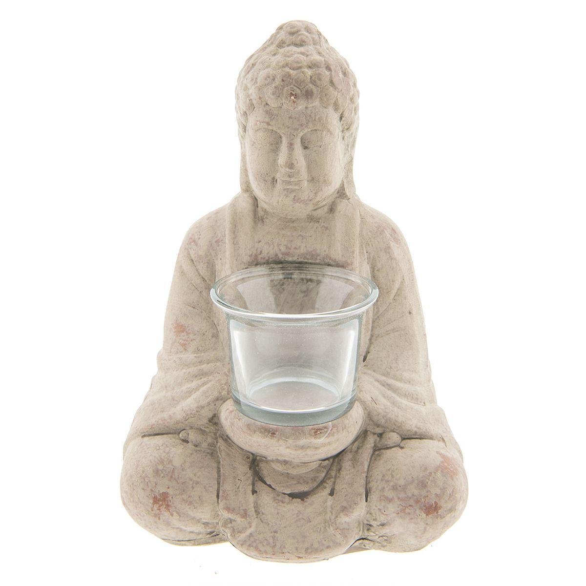 1- Svícen na čajovou svíčku BUDDHA