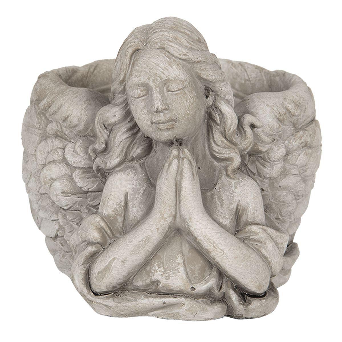 1- Kameninový květináč Anděl