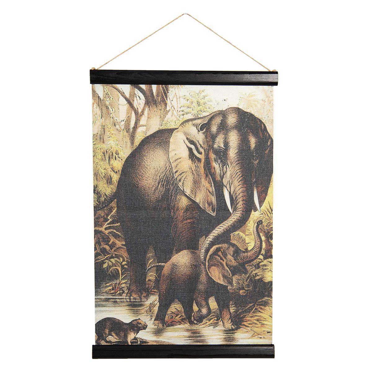 Nástěnná mapa ELEPHANTS