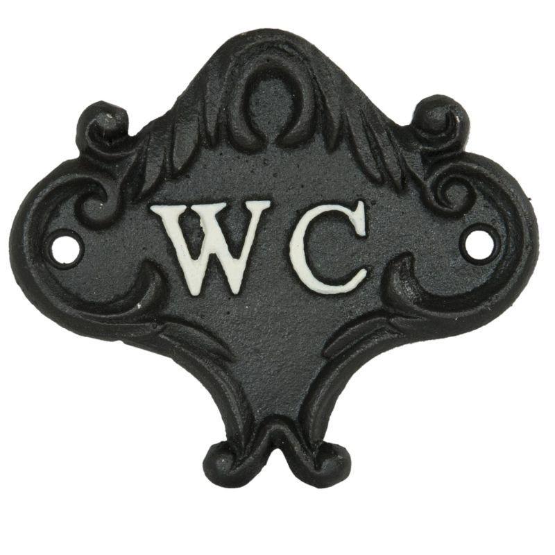 1- Kovová cedulka k označení místnosti WC