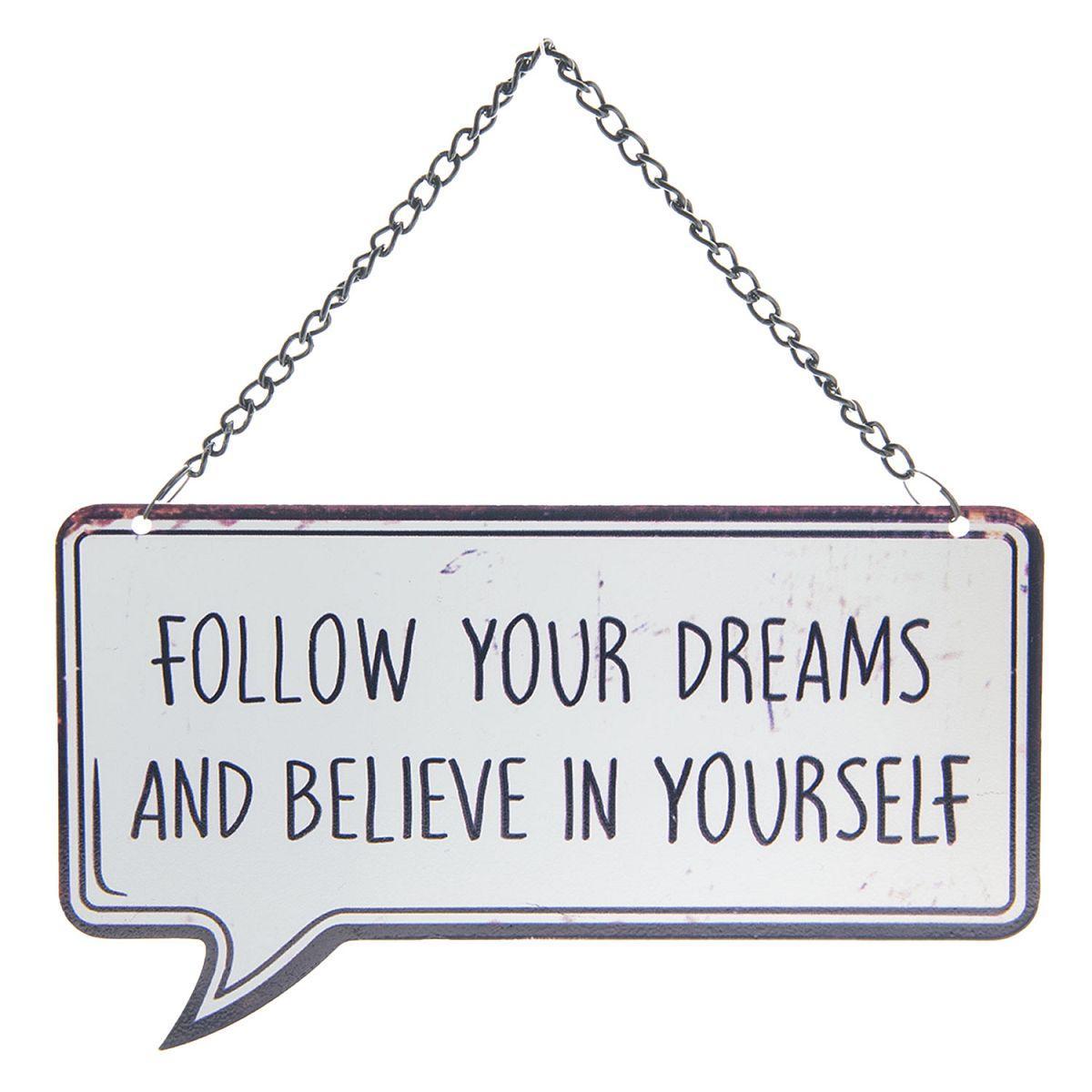 Závěsná cedulka FOLLOW YOUR DREAMS