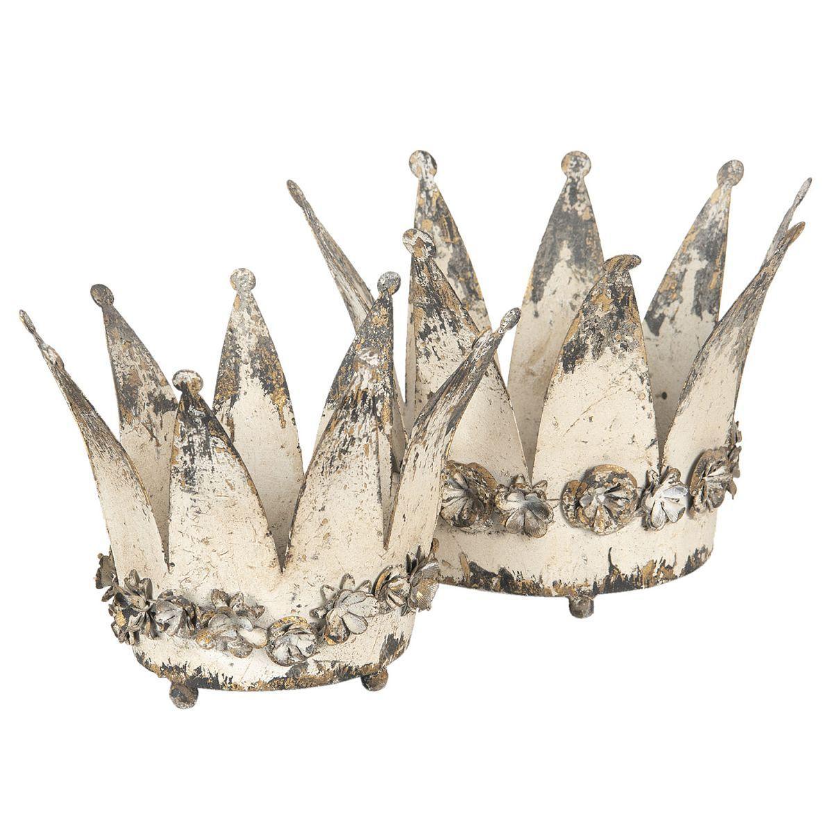 Dvě dekorativní královské koruny