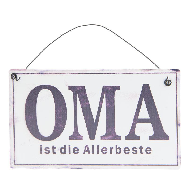 Závěsná plechová cedulka OMA